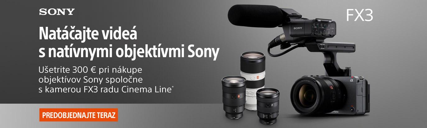 Ušetri 300 € pri kúpe Sony FX3 spolu s objektívom