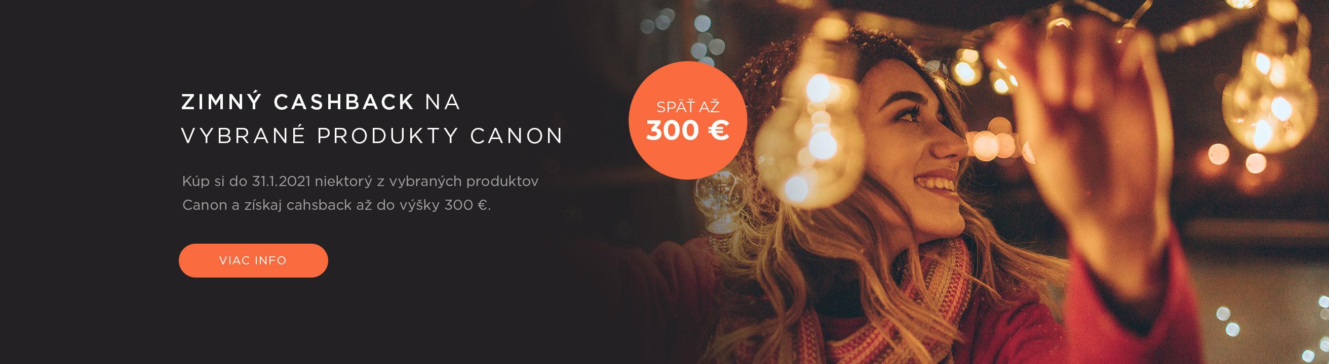 Zimný cashback na vybrané produkty Canon