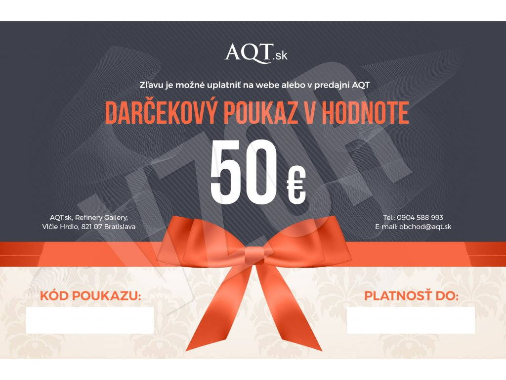AQT Darcekovy poukaz 50
