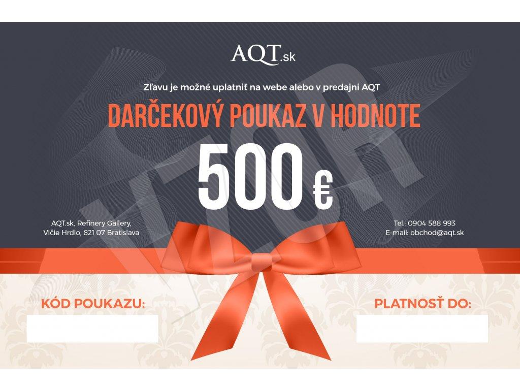 AQT Darcekovy poukaz 500