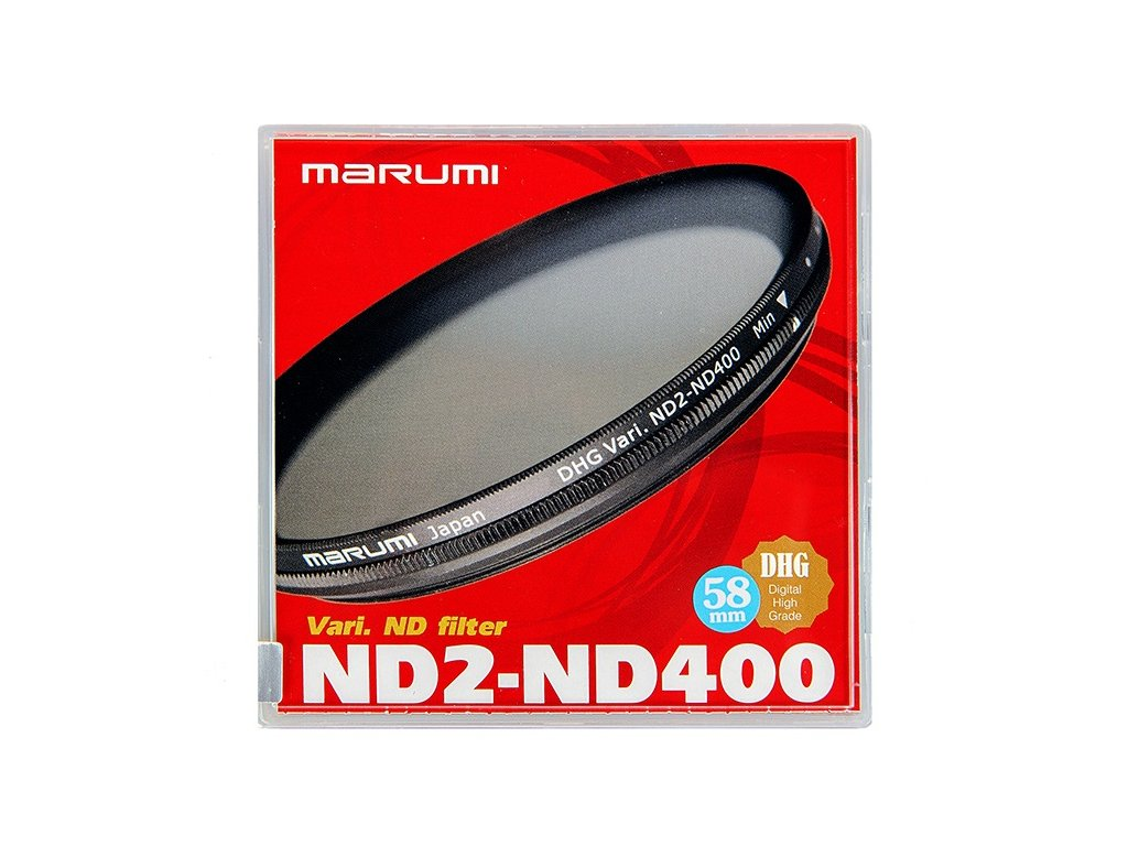 23446 58mm vari nd filter nd2 nd400 marumi