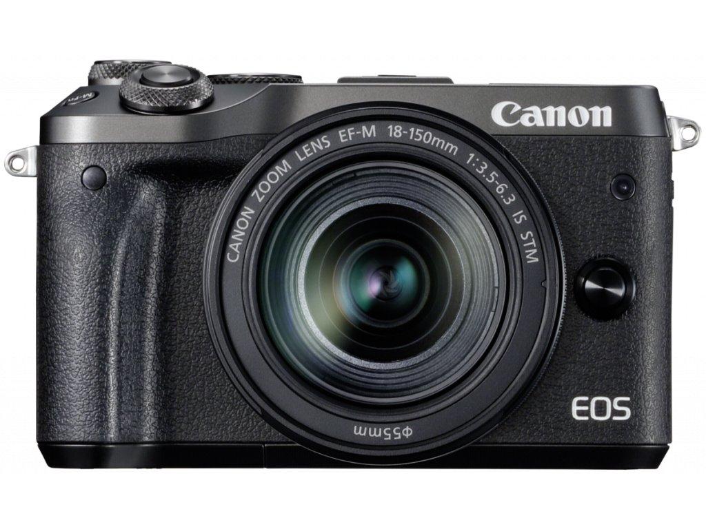 35653 canon eos m6 kit black ef m 3 5 6 3 18 150 is stm