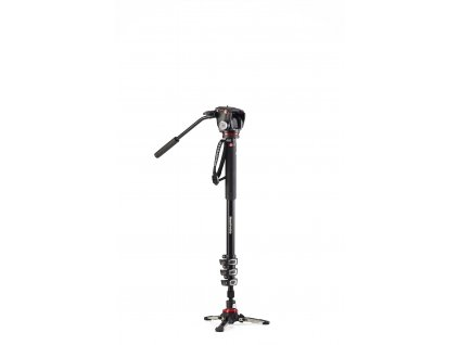 Manfrotto XPRO 4 section video monopod 2 Way head & FLUIDTECH base