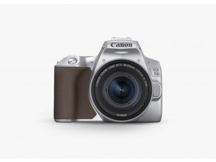 Canon EOS 250D 18 55 strieborny