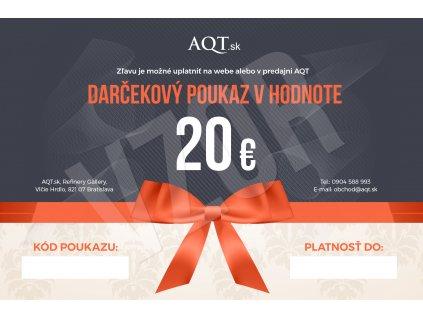 AQT Darcekovy poukaz 20