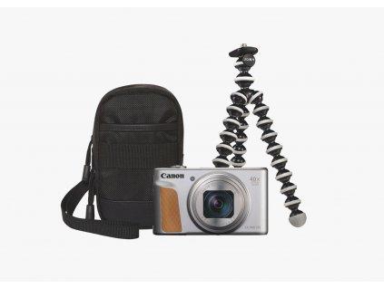 Canon PowerShot SX740HS TRAVEL KIT strieborný