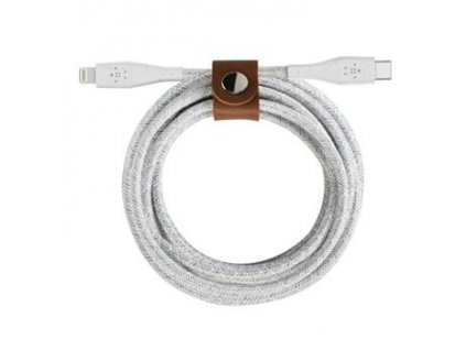 180243 belkin boost charge duratek usb c kabel s lightning konektorem 1 2m bily reminek
