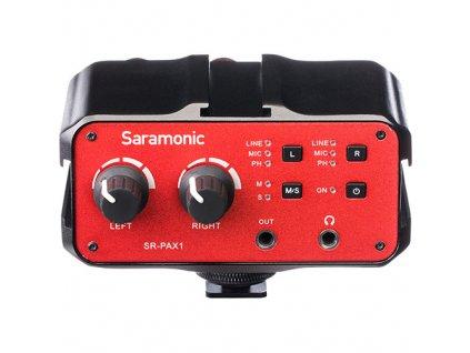 181433 saramonic sr pax1 dvojkanalovy audio mixer