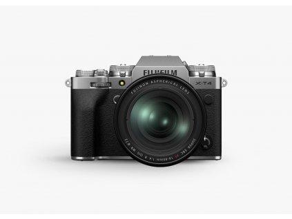 Fujifilm X T4 + XF16 80mm F4 R OIS WR strieborny