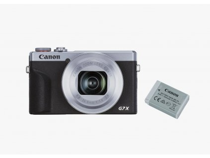 Canon PowerShot G7X Mark III strieborný Battery Kit