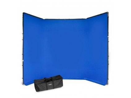 207037 manfrotto chromakey fx 4x2 9m background kit blue