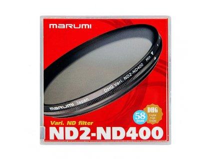 23449 77mm vari nd filter nd2 nd400 marumi