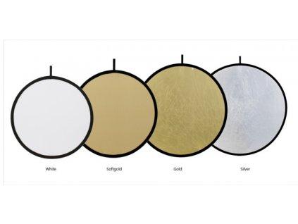 24065 odrazova doska 100cm exl white soft gold fomei