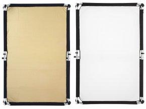 Quick-Clap Slip 1 x 1,5m Gold/White, FOMEI