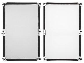 Quick-Clap Slip 1 x 1,5m Silver/White, FOMEI