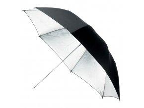 Štúdiový dáždnik BS-110cm / BLACK / SILVER 110mm, Terronic