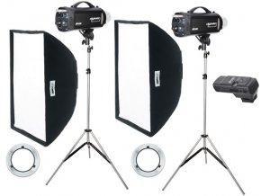 Digitalis 600/600, kit štúdiových bleskov, FOMEI