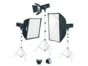 Digitalis 600/600/400, kit štúdiových bleskov, FOMEI