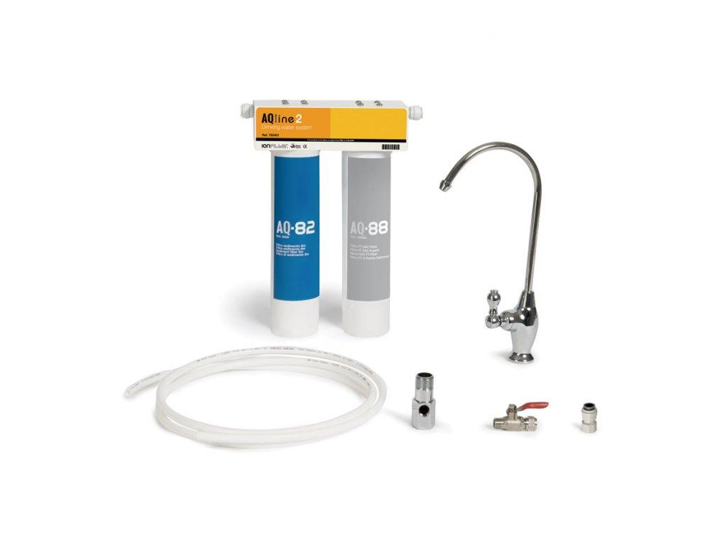 Filtr na vodu AQ LINE 2  filtr na odstranění mechanických nečistot a chlóru