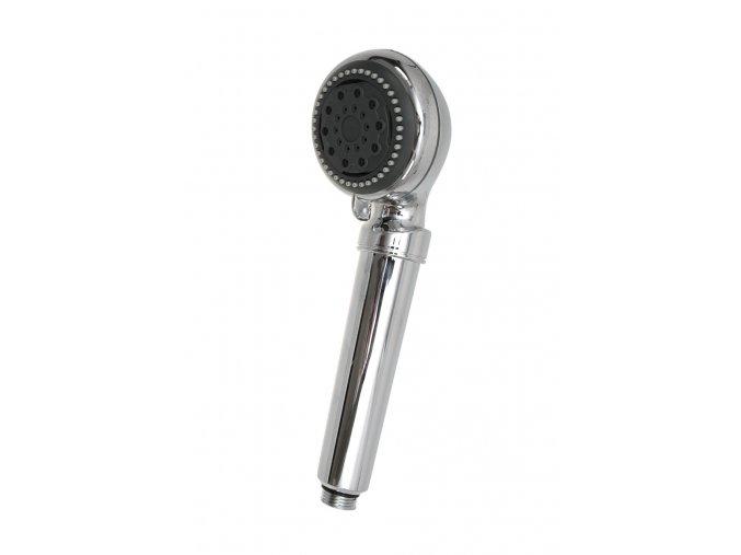 Stříbrná sprchová hlavice s filtrem na vodu