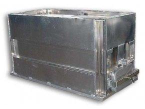 Přepravní bedna na ryby mat. hliník rozměry: 2,45x1,25x1,05m (boky vyztužené)