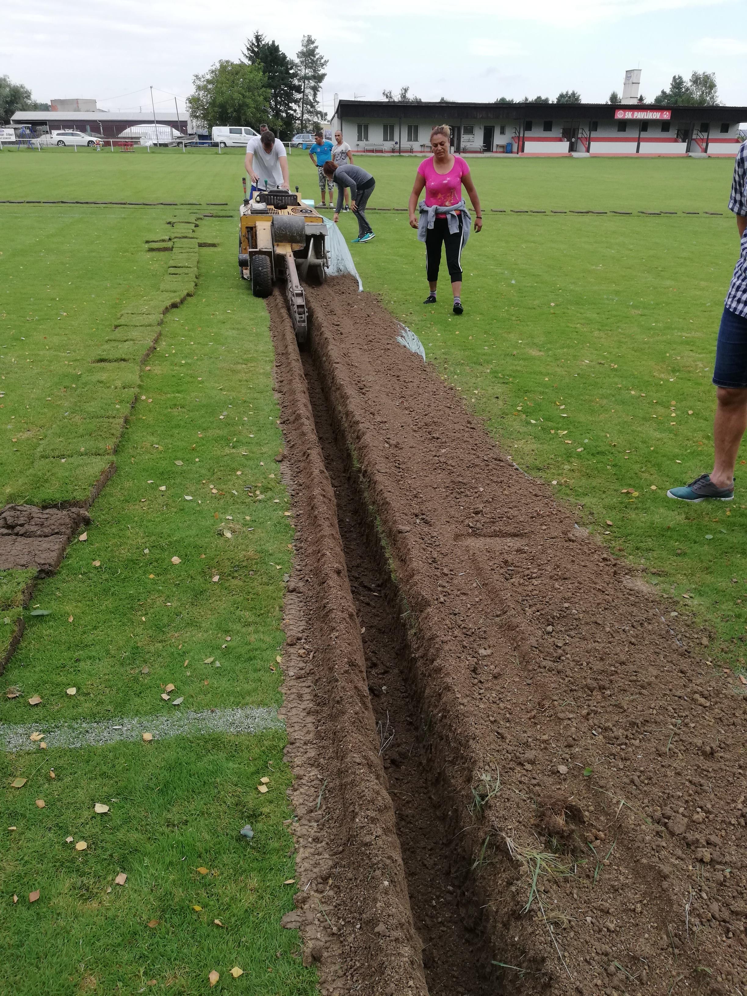Rozšíření závlahy fotbalových hřišť