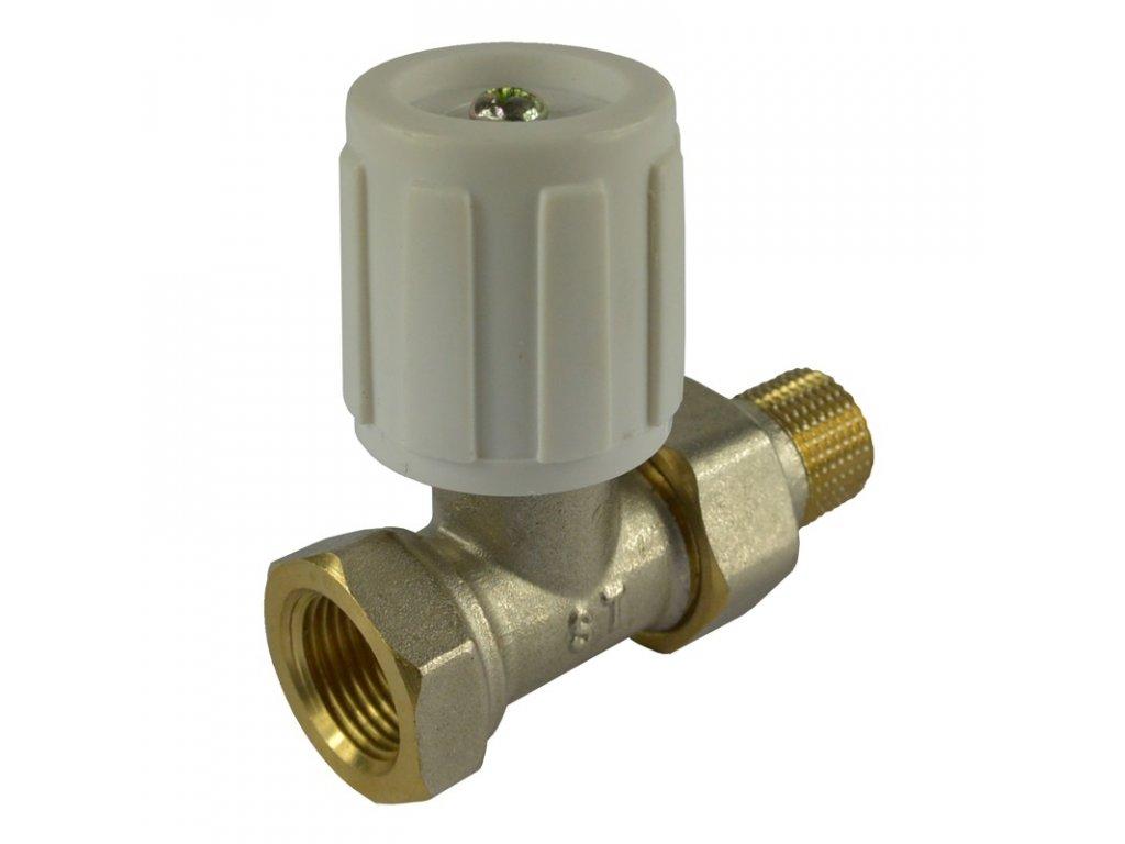 Ventil radiátorový přímý, jednoregulační