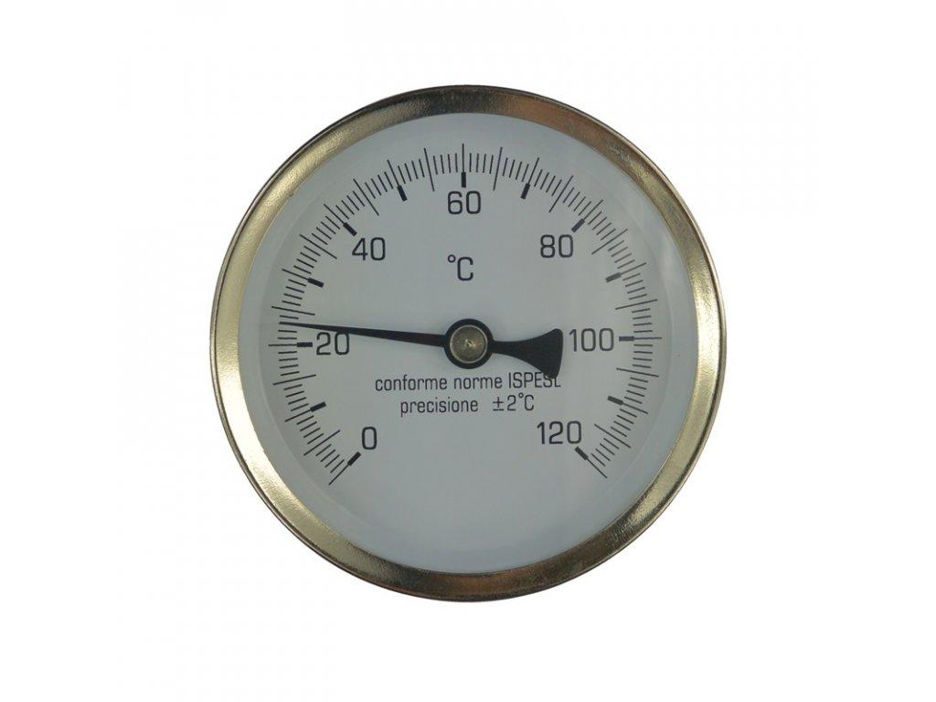 """Teploměr bimetalový 0 - 120 °C, zadní vývod 1/2"""""""