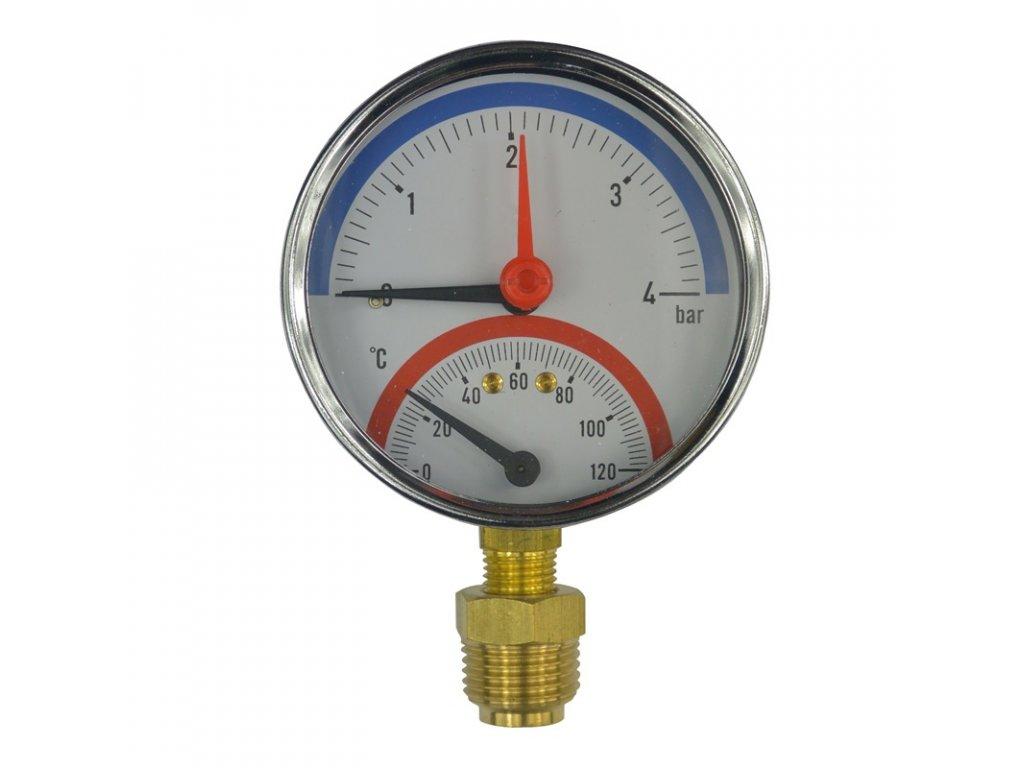 Termomanometr 0 - 120 °C, 0-4 bar, 0-6 bar