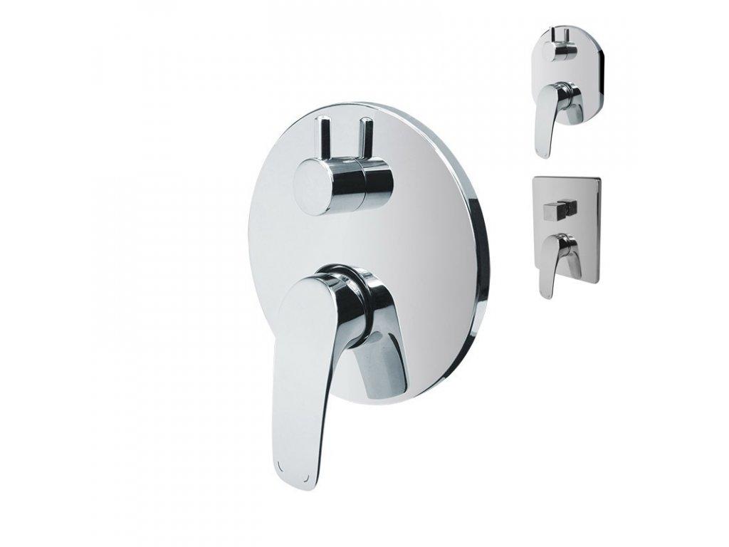 Sprchová podomítková baterie s přepínačem, Eve, Mbox, kulatý kryt