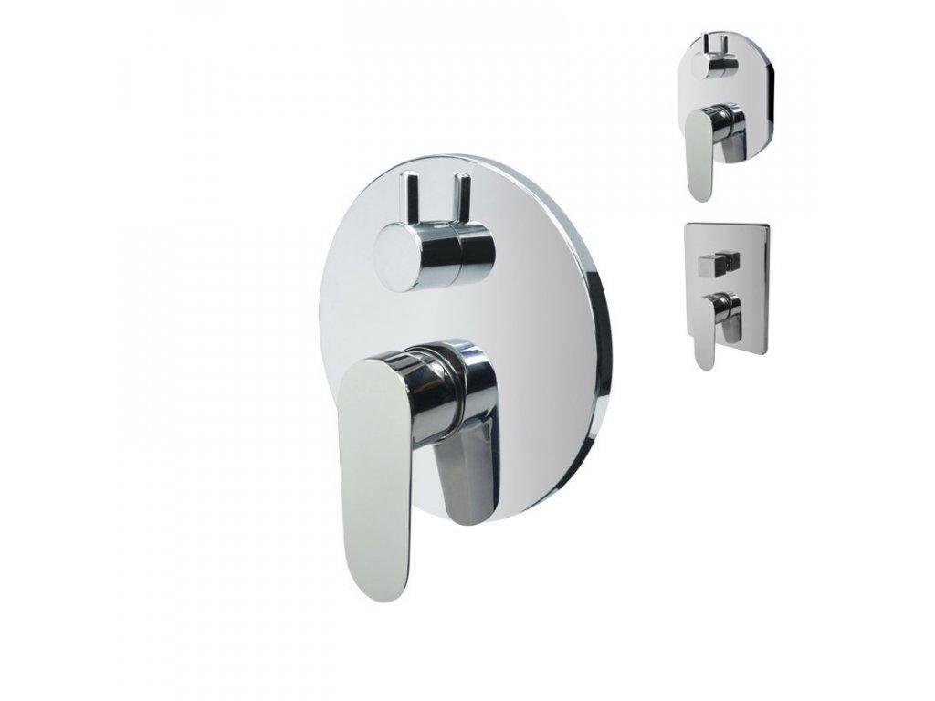 Sprchová podomítková baterie s přepínačem, Viana, Mbox, kulatý kryt