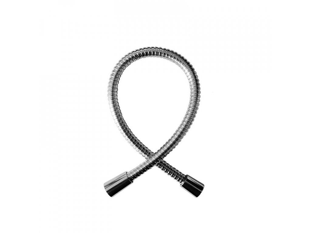 Sprchová hadice dvouzámková 55 cm, propojovací, nerez