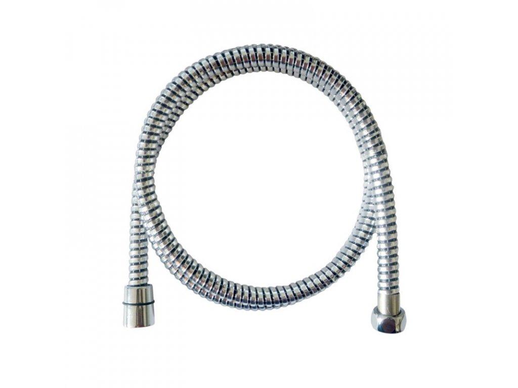 Sprchová hadice 150 cm spirálová černá, plastová