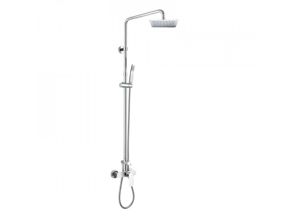 Nástěnná sprchová baterie 150mm se sprch.soupravou,ruční a talíř.sprchou slim 200x200mm