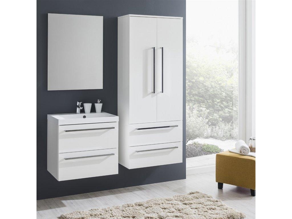 Koupelnová skříňka s dvoumyvadlem z litého mramoru 120 cm