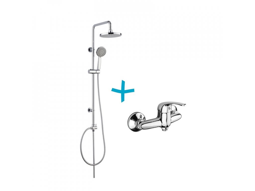 Sprchový set včetně baterie, CBEE609, CBEE609A