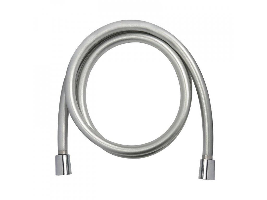 Sprchová hadice šedostříbrná se systémem zabraňujícím překroucení