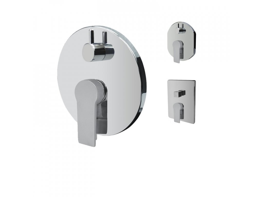 Sprchová podomítková baterie s přepínačem, Dita, Mbox