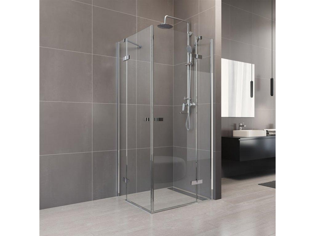 Sprchový kout, Novea, čtverec, chrom ALU, sklo Čiré