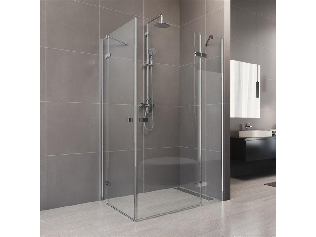 Sprchový kout, Novea, obdélník, chrom ALU, sklo Čiré