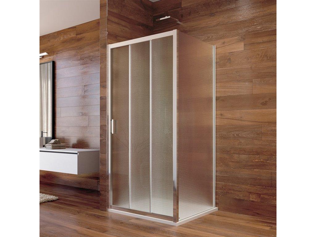 Sprchový kout, Lima, čtverec, chrom ALU, sklo Point