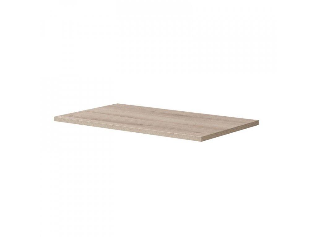 Aira desk, koupelnová deska na skříňku,bílá, dub, 40 - 142 cm