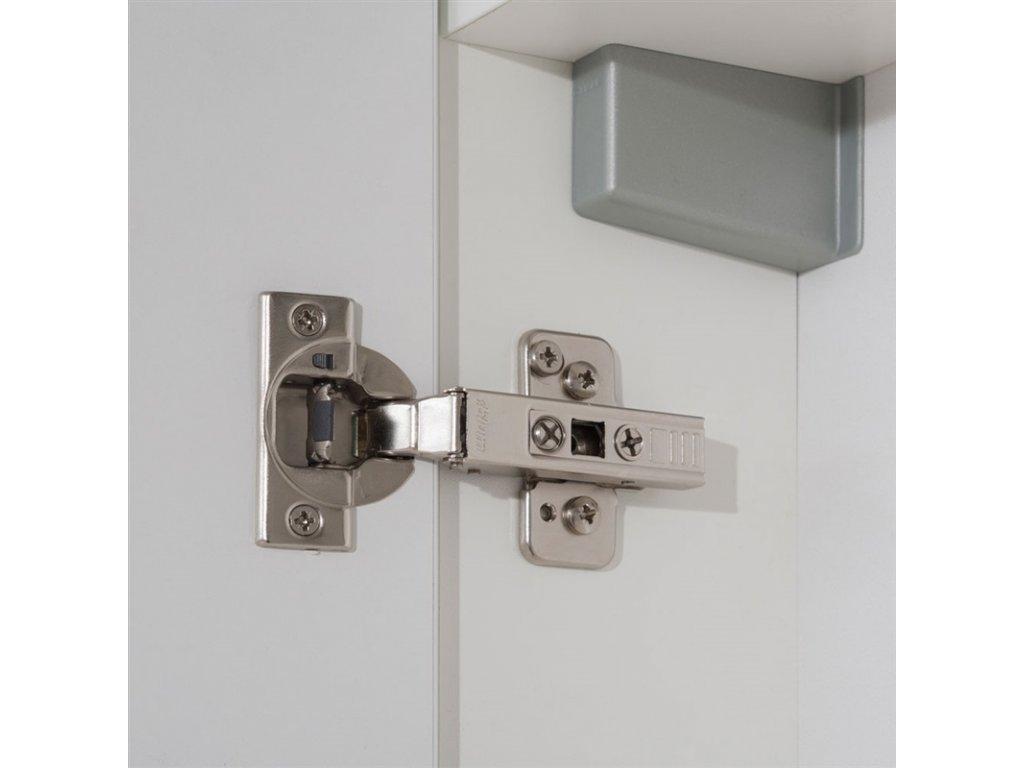 Leny, koupelnová skříňka s keramickým umyvadlem, závěsná, bílá, 330x675x250 mm