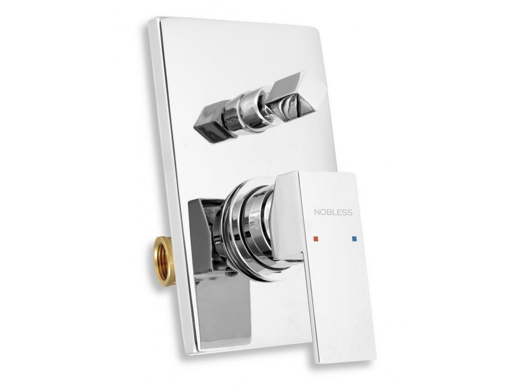 Vanová sprchová baterie s přepínačem EDGE chrom