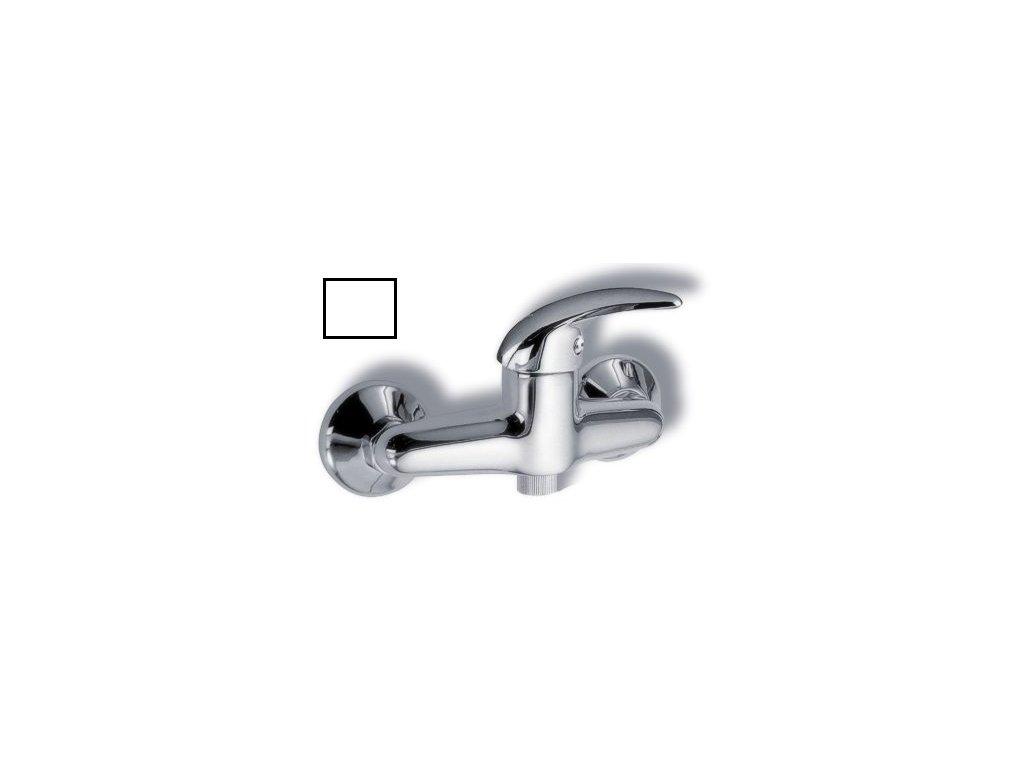 Sprchová baterie bez sprchy 100 mm Metalia 55 bílá-chrom