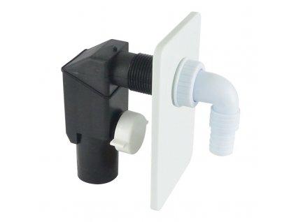 Sifon pračkový podomítkový ø 40/50 mm, bílý, plast