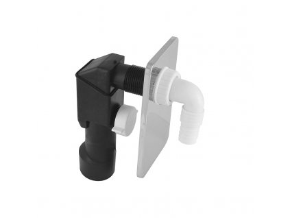 Sifon pračkový podomítkový ø 40/50 mm, chromovaný plast