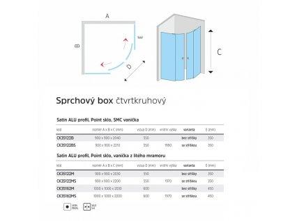 Sprchový box, čtvrtkruh, 90 cm, R550, satin ALU, sklo Point, zadní stěny zelené