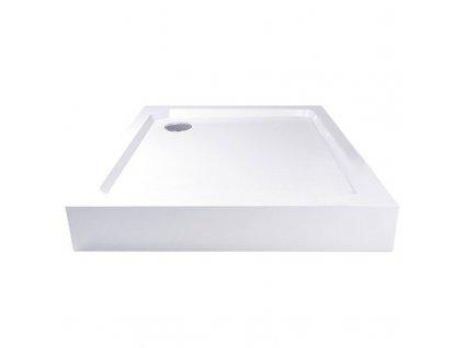 Čtvercová sprchová vanička, SMC, bílá