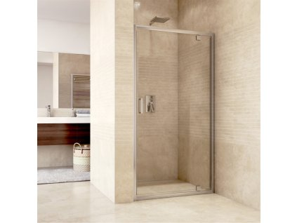 Sprchové dveře pivotové, Mistica, chrom. profily, sklo Čiré